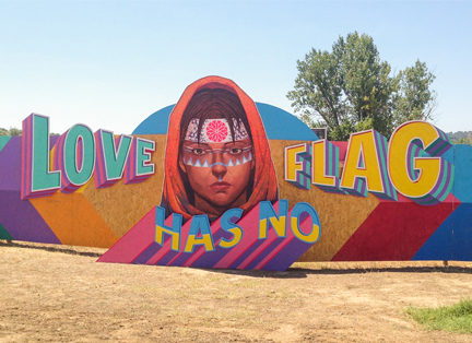 LOVE HAS NO FLAG